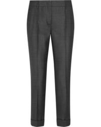 Prada Wool Slim Leg Pants Dark Gray