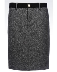 Armani Jeans Pencil Skirt In Wool Blend