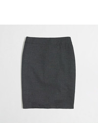 J.Crew Factory Factory Pencil Skirt In Wool Flannel