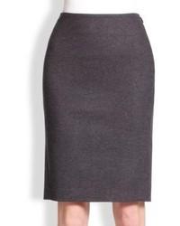 Fendi Fleece Wool Pencil Skirt