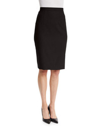 Theory Hemdall B Continuous Pencil Skirt Black