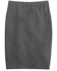 Pencil skirt in italian stretch wool medium 366233