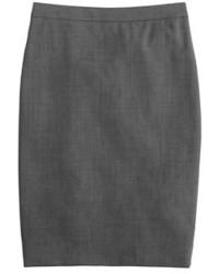 Pencil skirt in italian two way stretch wool medium 366233