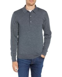 Charcoal Wool Polo Neck Sweater
