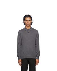 A.P.C. Grey Jerry Long Sleeve Polo