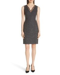 Charcoal Wool Sheath Dress