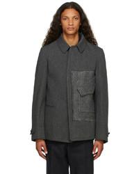 Maison Margiela Grey Wool Twill Kaban Jacket