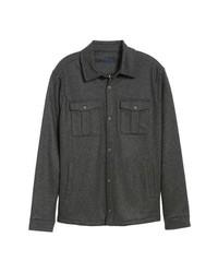 Zachary Prell Seymour Regular Fit Wool Blend Shirt Jacket