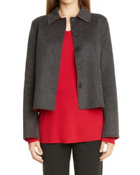 Lafayette 148 New York Tomasa Double Face Wool Cashmere Jacket