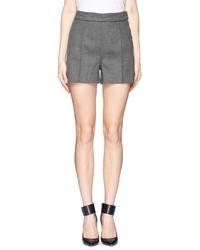 Nobrand Wool Felt Pleat Shorts