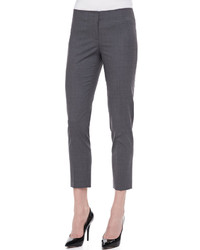 Charcoal Wool Skinny Pants