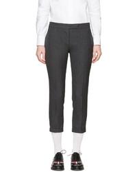 Grey low rise skinny trousers medium 4392754