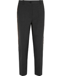 J.Crew Ludlow Sequin Paneled Stretch Wool Straight Leg Pants