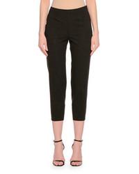 Side zip skinny cropped pants gray medium 651573