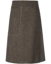 Maison Margiela Stitch Pocket A Line Skirt