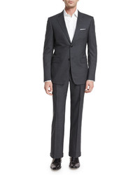 Gucci Brera Two Piece Wool Suit Charcoal