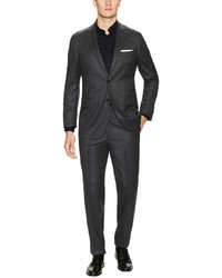 Brooks Brothers Wool Charcoal Flannel Suit