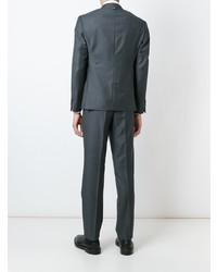 db6895388f8 ... Thom Browne Classic Suit In Dark Grey Wool Twill