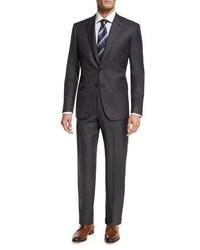 Brioni Essential Virgin Wool Two Piece Suit Gray