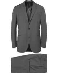 Boglioli Grey Slim Fit Virgin Wool Suit