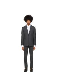Burberry Grey Wool Slim Suit