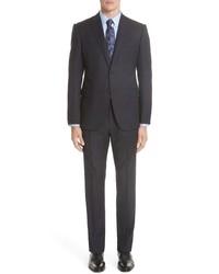 Emporio Armani M Line Trim Fit Stripe Wool Sport Coat