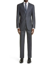 Giorgio Armani Slim Fit Solid Grey Wool Suit