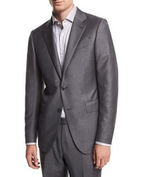 Ermenegildo Zegna Solid Trofeo Wool Two Piece Suit