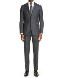 Emporio Armani Trim Fit Solid Wool Suit