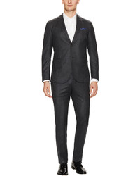 Z Zegna Charcoal Brushed Wool Suit