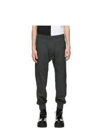 Neil Barrett Grey Wool Slouch Travel Lounge Pants