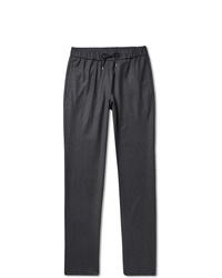 A.P.C. Kaplan Mlange Virgin Wool Flannel Drawstring Trousers