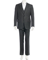 Tom Ford Basic Base A Wool Three Piece Suit