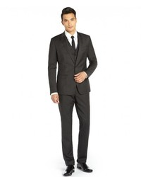 Dolce & Gabbana Charcoal Wool Three Piece Suit