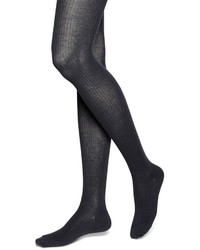 Brooks brothers wool ribbed tights medium 346465