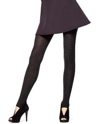 Hue Chevron Knit Stirrup Tights