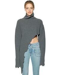 Asymmetrical wool turtleneck sweater medium 4418490