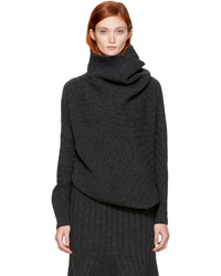 Stella McCartney Grey Asymmetric Turtleneck