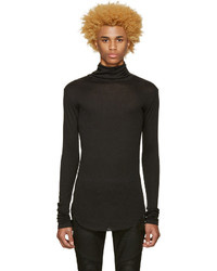 Balmain Grey Ribbed Turtleneck