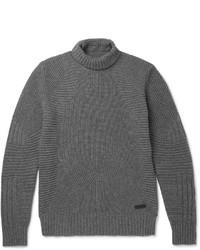 Belstaff Littlehurst Ribbed Wool And Cashmere Blend Rollneck Sweater
