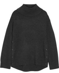 Rag & Bone Phyllis Wool And Cashmere Blend Turtleneck Sweater Charcoal