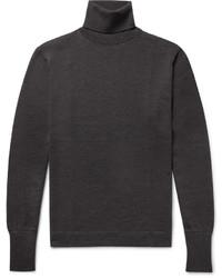 Officine Generale Slim Fit Merino Wool Rollneck Sweater
