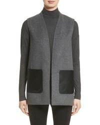 Lafayette 148 New York Nika Wool Cashmere Reversible Vest