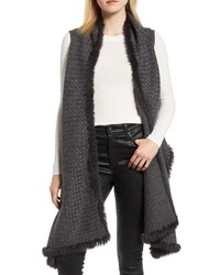 Wool vest with genuine rabbit medium 8738636