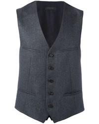 Charcoal Wool Waistcoat