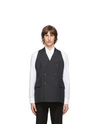 Maison Margiela Grey Melange Wool Waistcoat
