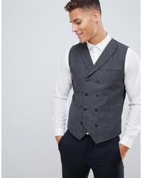 Jack & Jones Premium Slim Waistcoat With Wool Mix