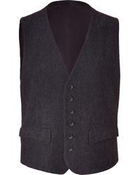 Rag and Bone Rag Bone Charcoal Wool Blend Waistcoat