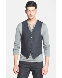 John Varvatos Star Usa Serge Trim Fit Wool Vest