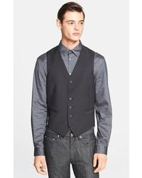 John Varvatos Star Usa Trim Fit Wool Vest